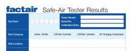 Safe-Air Tester Results Pad