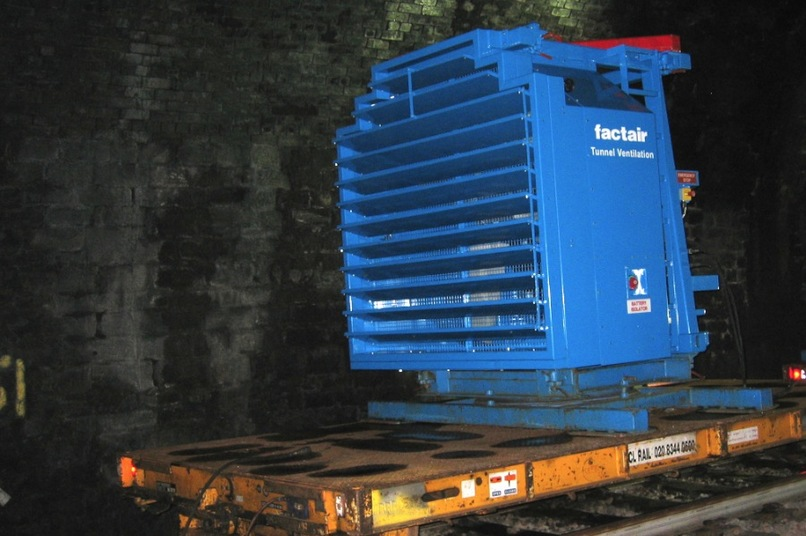Factair's self contained diesel driven fan.